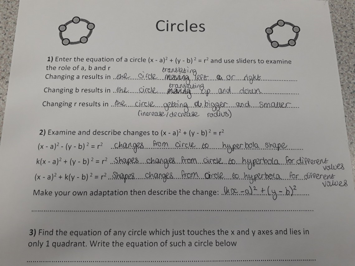 circles wsheet